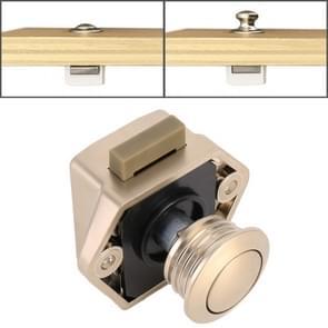 Press Type Drawer Cabinet Catch Latch Release Cupboard Door Stop Drawer Cabinet Locker for RV / Yacht / Furniture(Nickel)