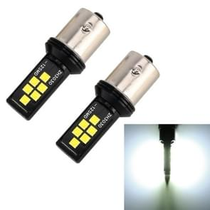 2 stuks 1156 DC9-16V/3.5 W auto auto turn Lights 12LEDs SMD-ZH3030 lampen  met constante stroom (wit licht)