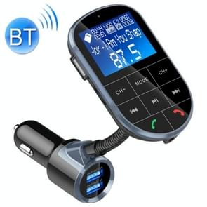 BC37 Dual USB Charging Smart Bluetooth FM Transmitter MP3 Music Player Car Kit, Support Hands-Free Call & TF Card & U Disk (Black)