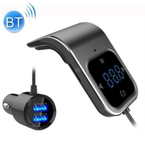 BC39 Dual USB Charging Smart Bluetooth FM Transmitter MP3 Music Player Car Kit, Support Hands-Free Call & TF Card & U Disk(Black)