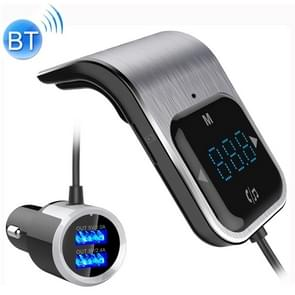 BC39 Dual USB Charging Smart Bluetooth FM Transmitter MP3 Music Player Car Kit, Support Hands-Free Call & TF Card & U Disk(Silver)