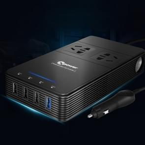XPower T1 250W DC 12V to AC 220V Car Multi-functional Power Inverter 4 USB Ports 8.0A Charger Adapter + Negative Ions Air Cleaner