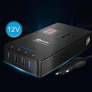XPower T1A 250W DC 12V to AC 220V Car Multi-functional Digital Display Power Inverter 4 USB Ports 8.0A Charger Adapter + Negative Ions Air Cleaner
