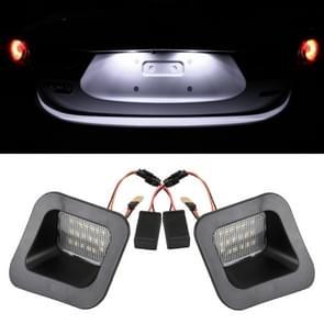 2 PCS DC12V/2W/6000K/120LM auto LED kenteken licht 18LEDs SMD-3528 lampen voor Dodge  wit licht