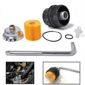 A1350 Oil Filter + Filter Cover + Cap Type Oil Grid Wrench For Toyota Corolla Prius