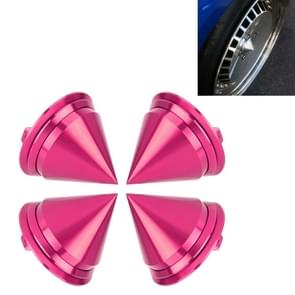4 PCS Car Tyre Hub Centre Cap Cover (Pink)
