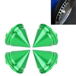 4 PCS Car Tyre Hub Centre Cap Cover (Green)