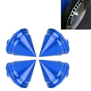 4 PCS Car Tyre Hub Centre Cap Cover (Blue)