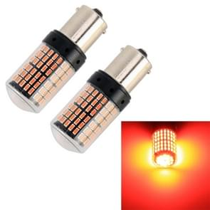 2 PCS 1156/BA15S DC12V/18W/1080LM auto auto draai lichten met SMD-3014 lampen (rood licht)