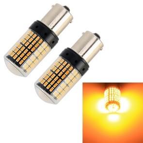 2 stks 1156/BA15S DC12V/18W/1080LM auto auto turn lichten met SMD-3014 lampen (geel licht)