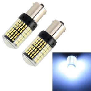 2 stks 1156/BAU15S DC12V/18W/1080LM auto auto turn lichten met SMD-3014 lampen (wit licht)