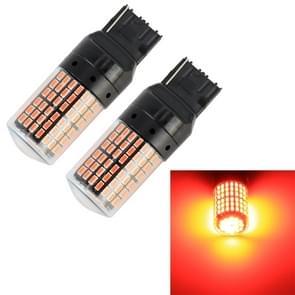 2 stuks T20/7440 DC12V/18W/1080LM auto auto beurt lichten met SMD-3014 lampen (rood licht)