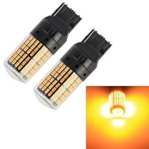 2 stuks T20/7440 DC12V/18W/1080LM auto auto turn lichten met SMD-3014 lampen (geel licht)