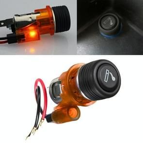 Auto 10A 12V Europese standaard sigarettenaansteker volledige montage met licht (oranje)