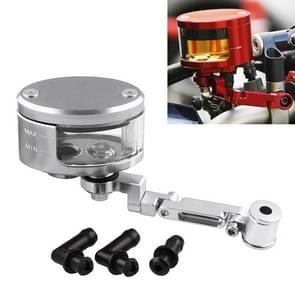 Motorfiets Modificatie Onderdelen Front Brake Fluid Oil Universal Brake Oil Cup voor Kawasaki / Suzuki (Zilver)