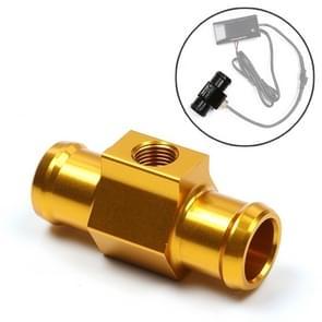Motorfiets Modificatie Onderdelen Universal CNC Aluminium Water Temperatuur Meter Sensor Joint Transfer Interface  Grootte: 18mm (Goud)