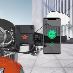 Draagbare motorfiets aluminium legering USB lader mobiele telefoon houder  stuur versie