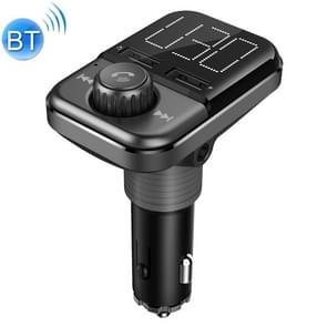 BT72 Dual USB opladen Smart Bluetooth FM zender MP3 muziek speler carkit met 1 5 inch wit scherm  steun Bluetooth bellen  TF kaart & U schijf