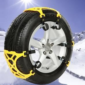 Grootte M auto sneeuw Tire anti-slip Chains gele ketting 6pcs/set voor 1 auto met zwarte zak verpakking