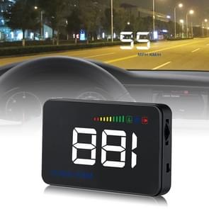 A500 OBD2 3.5 inch Vehicle-mounted Head Up Display Security System, Support Car Speed / Engine Revolving Speed Display / Water Temperature / Voltage / Detection and Elimination Fault Code