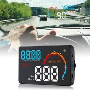 D2500 OBD2+GPS 4 inch Vehicle-mounted Head Up Display Security System, Support Car Speed / Engine Revolving Speed Display / Water Temperature / Battery Voltage / Running Speed & Direction & Distance