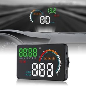 Q5 GPS 4 inch Vehicle-mounted Head Up Display Security System, Support Running Speed & Direction & Distance / Driving Kilometres /