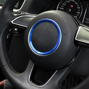 Car Auto Steering Wheel Ring Cover Trim Sticker Decoration for Audi A4L / A3 / A5 2017-2019(Blue)