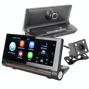 T1 Multi-functional Smart Car Rear View Mirror Video Record Camera Support TF Card / FM / Bluetooth Hands-free Function