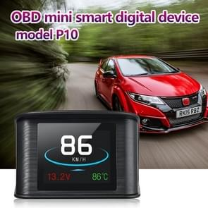 P10 HUD 2.2 inch Car OBD2 Smart Digital Meter with TFT LCD Multi-color, Speed & RPM & Water Temperature & Oil Consumption & Driving Distance / Time & Voltage Display, Over Speed Alarm, Low Voltage Alarm, Kilometers & Miles Switching, Light Sensor Function
