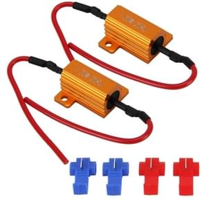 2 PC's auto Canbus fout Canceller Decoder laden weerstand LED 25W 25 Ohm geen knipperende Decoder