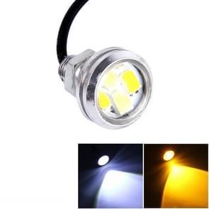 10 stuks 20W 4 LEDs SMD 5630 wit licht + geel licht overdag Running Light zet licht Eagle Eye licht  DC 12V  kabellengte: 90cm(Silver)