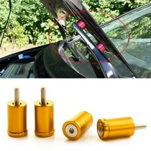 4 PCS Car Modified Isolation Column Engine Cover Blocked Up Screw Engine Turbine Ventilation Gasket Screw Washer (Gold)