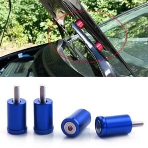 4 PCS Car Modified Isolation Column Engine Cover Blocked Up Screw Engine Turbine Ventilation Gasket Screw Washer (Blue)