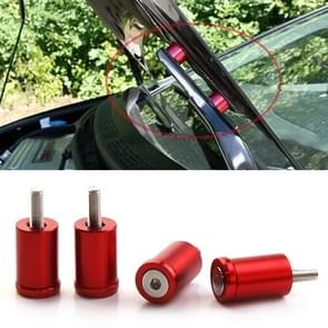 4 PCS Car Modified Isolation Column Engine Cover Blocked Up Screw Engine Turbine Ventilation Gasket Screw Washer (Red)