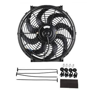 12V 80W 14 inch auto koeling fan High-Power gemodificeerde tank ventilator koelventilator krachtige auto ventilator mini airconditioner voor auto