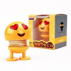 Auto-interieur simulatie schudden hoofd speelgoed swingende Emoji expressie decor ornament 2019-5