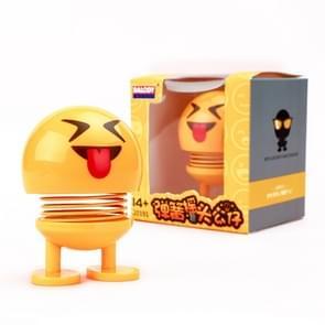 Auto-interieur simulatie schudden hoofd speelgoed swingende Emoji expressie decor ornament 20191-7
