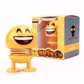 Auto-interieur simulatie schudden hoofd speelgoed swingende Emoji expressie decor ornament 20191-6