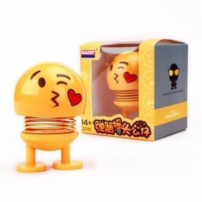 Auto-interieur simulatie schudden hoofd speelgoed swingende Emoji expressie decor ornament 20191-2