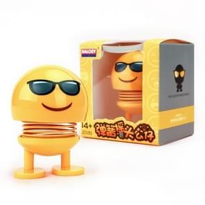 Auto-interieur simulatie schudden hoofd speelgoed swingende Emoji expressie decor ornament 20191-8