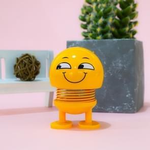 Auto-interieur simulatie schudden hoofd speelgoed swingende Sinister Smile Emoji Expression decor ornament