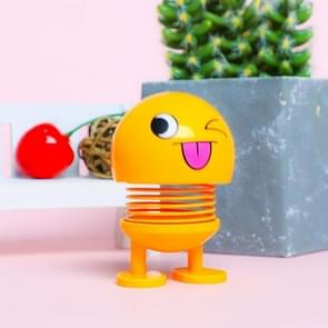 Auto-interieur simulatie schudden hoofd speelgoed swingende ondeugende Emoji expressie decor ornament