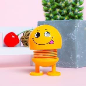 Auto-interieur simulatie schudden hoofd speelgoed swingende tong Emoji expressie decor ornament