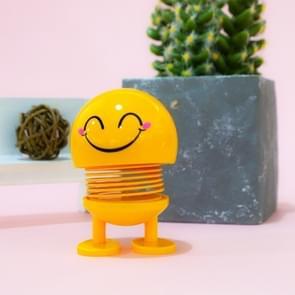 Auto-interieur simulatie schudden hoofd speelgoed swingende gelach Emoji Expression decor ornament