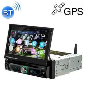 1705AD HD 7 inch 1 Din Universal Car DVD MP5 Player GPS Navigation Multimedia Player Bluetooth Stereo Radio, Support FM & WiFi, North America Map