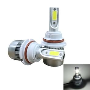 2 PC's C9 9004 18W 1800LM 6000K waterdicht IP68 auto Auto LED koplamp met 2 COB LED-lampen  DC 9-36V(White Light)