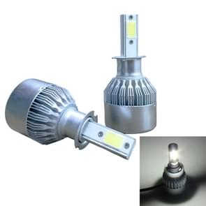 2 PC's C9 H3 18W 1800LM 6000K waterdicht IP68 auto Auto LED koplamp met 2 COB LED-lampen  DC 9-36V(White Light)