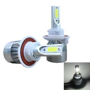 2 PC's C9 H13 18W 1800LM 6000K waterdicht IP68 auto Auto LED koplamp met 2 COB LED-lampen  DC 9-36V(White Light)