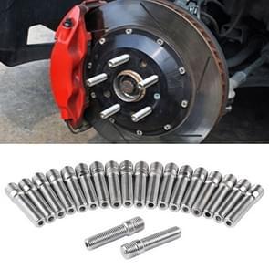 20 PCS 5.8cm Universal Car Modification Extended Wheels Stud Conversion M14x1.25 to M12x1.5 Screw Adapter LN032 LN033 LN044
