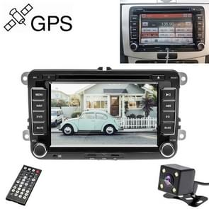 K0212 HD 7 inch Car Rear View Mirror Monitor Camera DVD Player GPS Navigation Player Stereo Radio for Volkswagen, North America Map